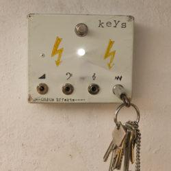 Keys, keyholder with phone plugs