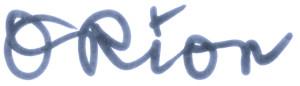 orion script blue